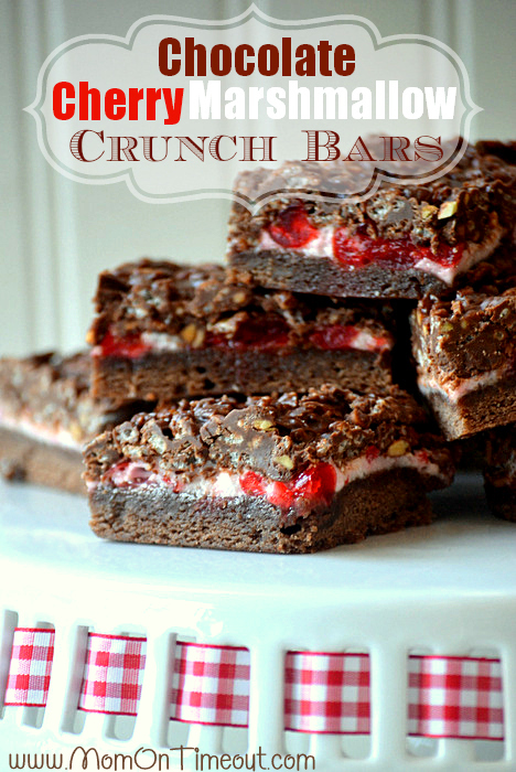 Chocolate Cherry Marshmallow Crunch Bars Yum