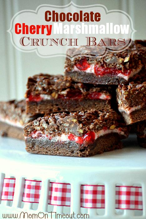 Chocolate Cherry Marshmallow Crunch Bars Yum