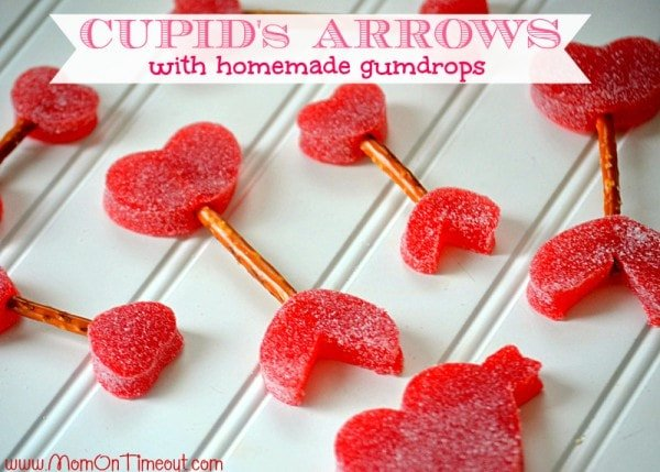 Cupid's Arrows with Homemade Gumdrops