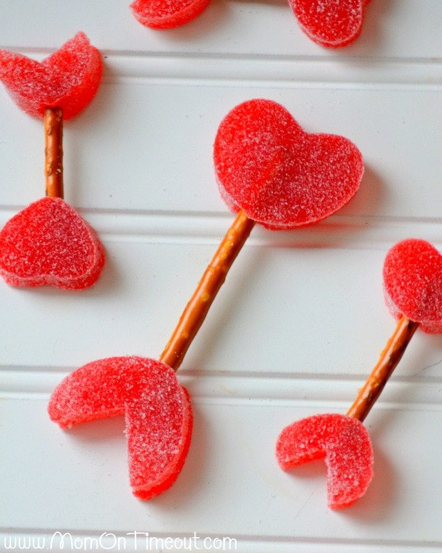 Cupid's Arrows with Homemade Gumdrops from MomOnTimeout.com   #Valentinesday #recipe #kids