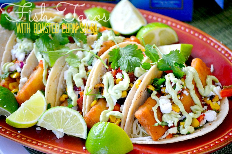 Fish-Tacos-with-roasted-corn-salsa