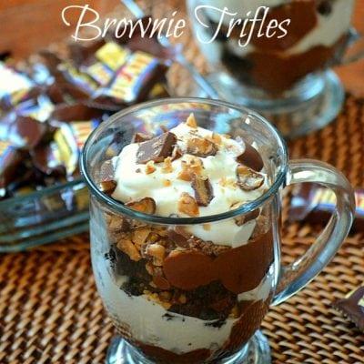 Heath Bar Brownie Trifles