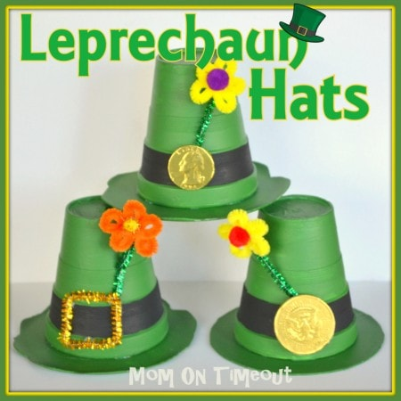 Leprechaun Hats are such a fun craft for St. Patrick's Day! | MomOnTimeout.com #craft #kids #StPatricksDay