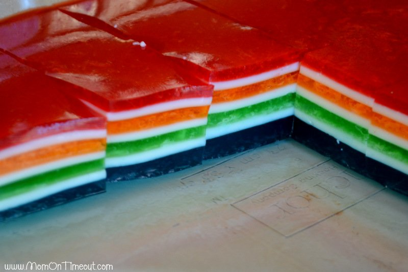 rainbow jello layers