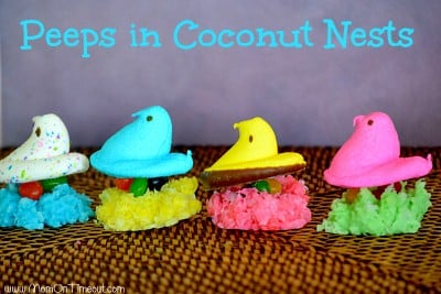 Peeps-in-coconut-nests-with-jelly-beans