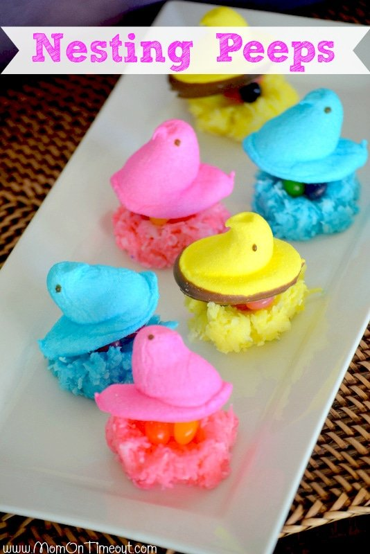 Peeps-in-coconut-nests