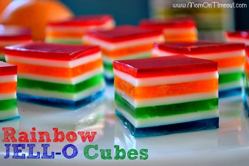 easy rainbow jello