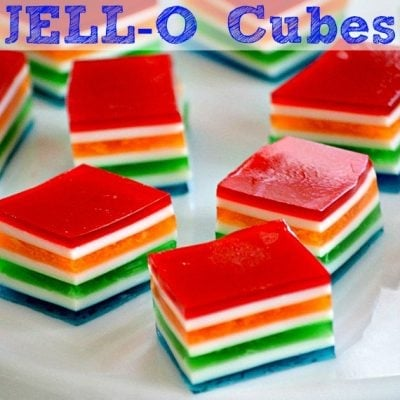 Rainbow Jello Cubes