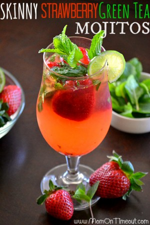Skinny-Strawberry-Green-Tea-Mojitos-Recipe