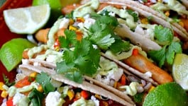 Fish Tacos with Roasted Corn Salsa