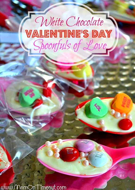White Chocolate Spoonfuls of Love for Valentine's Day | MomOnTimeout.com #kids #Valentines