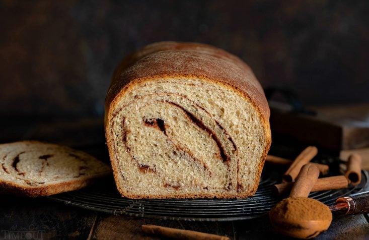 cinnamon bread recipe wide shot
