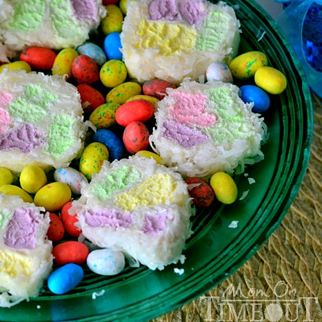 3 Ingredient Easter Cathedral Candy | MomOnTimeout.com #Easter #recipe