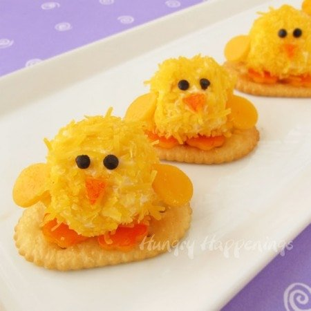 Cheese Ball Chicks, Easter appetizers, Easter dinner, Easter food, chicks, cute chick crafts, 2