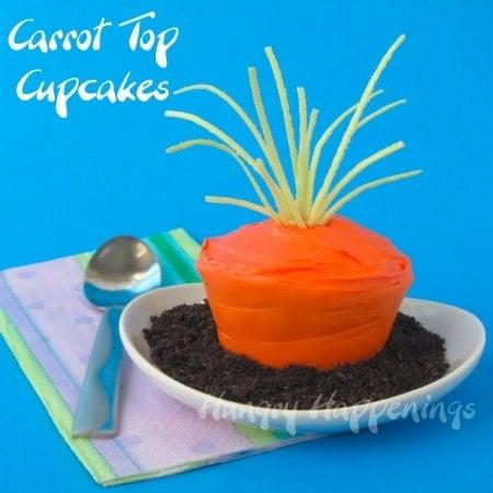 Easter Cupcakes, Carrot Cupcakes, Carrot Top Cakes, Cupcake carrot, carrot cake, edible cupcake wrapper