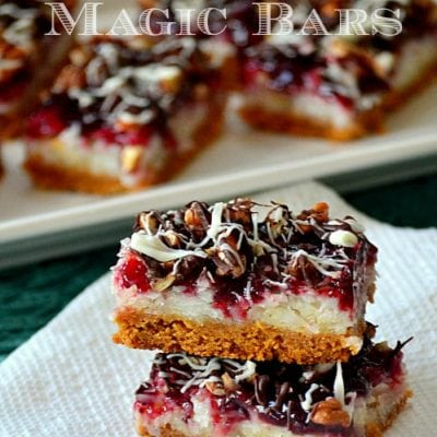 Raspberry Coconut Magic Bars
