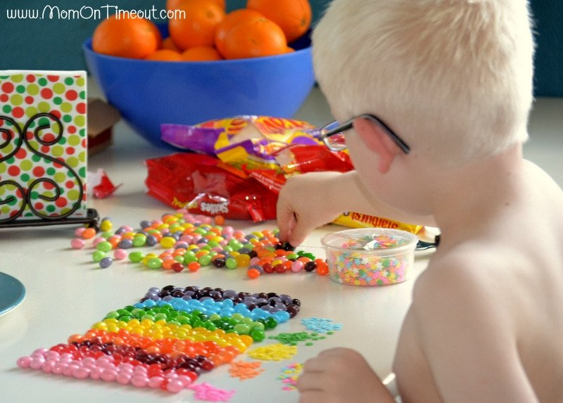 Reece sorting candy