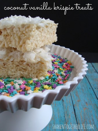 coconut vanilla krispie treats 1