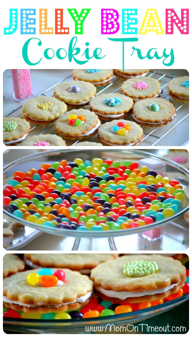 Jelly Bean Cake Plate | MomOnTimeout.com #Easter #jellbeans