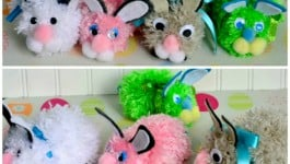 pom-pom-bunny-lineup-craft-Easter
