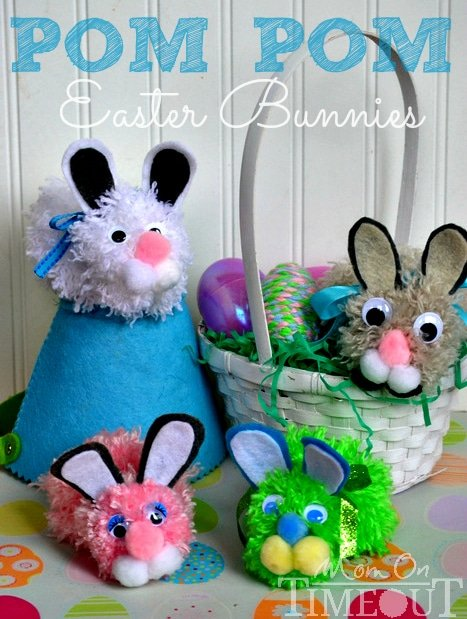 Pom Pom Easter Bunny Craft