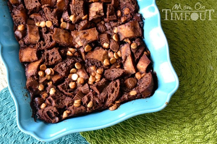 reeses-chocolate-bread-pudding