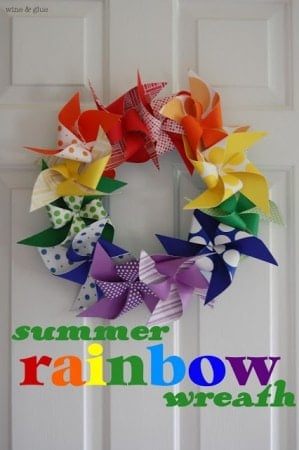 summer rainbow wreath