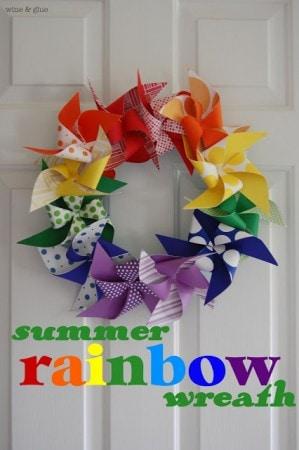 summer rainbow wreath