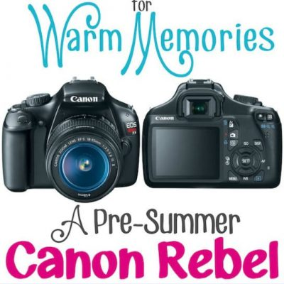 Canon EOS Rebel Giveaway!