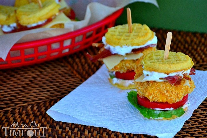 Buttermilk Chicken Ranch Waffle Sliders
