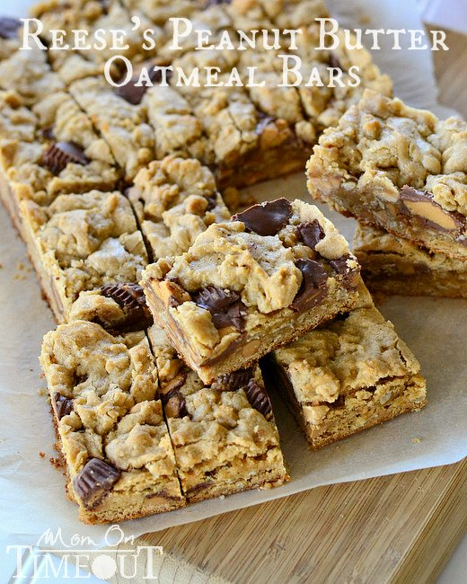 Peanut-Butter-Oatmeal-Cookie-Bars-Recipe-with-Reeses