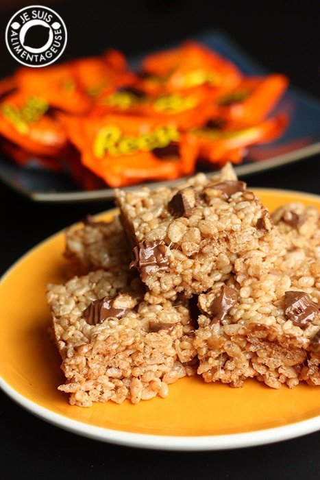 Reese's Peanut Butter Rice Krispies Squares