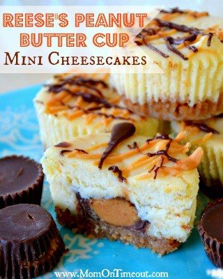 Reese's Peanut Butter Cup Mini Cheesecakes