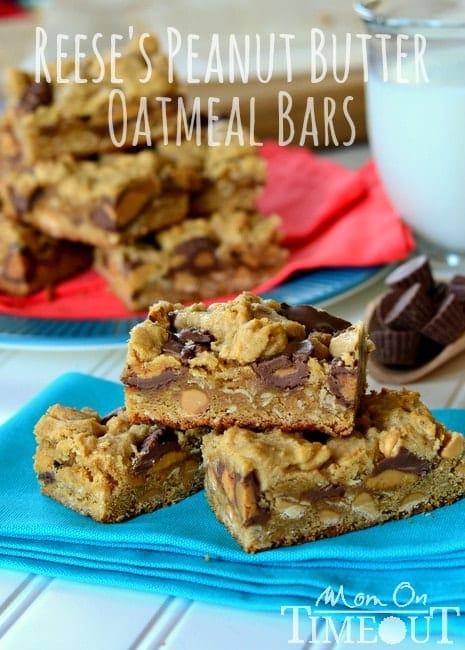 Reeses-Peanut-Butter-Oatmeal-Bars