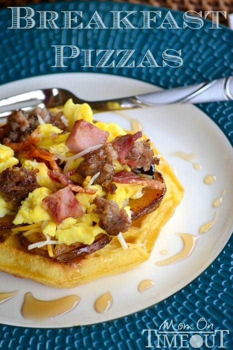 Breakfast Pizzas with a Build-Your-Own Breakfast Waffle Pizza Bar | Mom On Timeout  #EggoWaffleOff