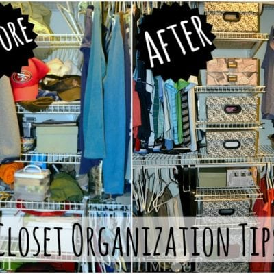 Master Closet Makeover & Organization Tips