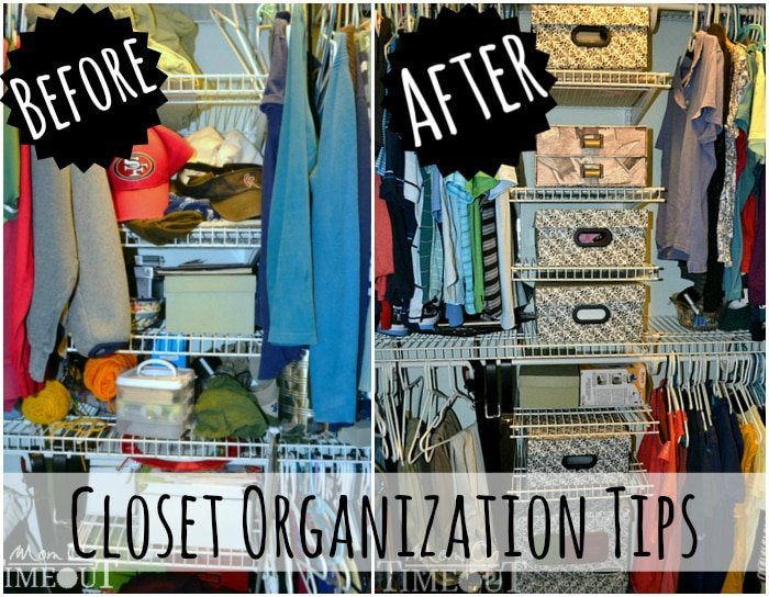 Master closet makeover organization tips mom on timeout - Decoration avant apres ...