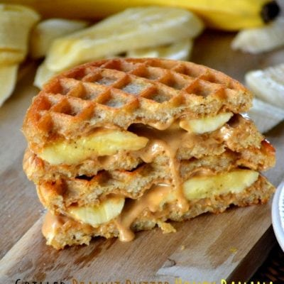 Grilled Peanut Butter Honey Banana Waffle Sandwiches