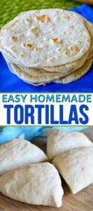 homemade tortillas collage