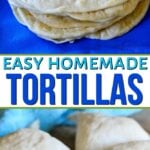homemade tortillas collage