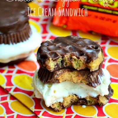 Reese's Chocolate-Dipped Waffle Ice Cream Sandwich