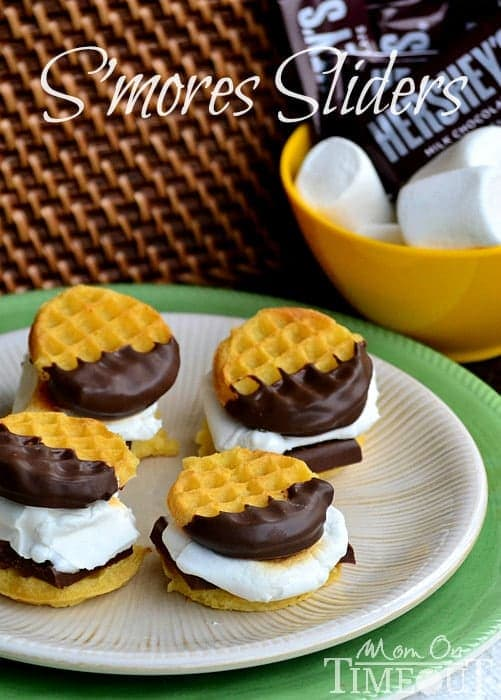 Perfect for a crowd or just a quick treat – S'mores Sliders are kid-friendly and delicious! An easy recipe that's perfect for snack time or dessert! | Mom On Timeout
