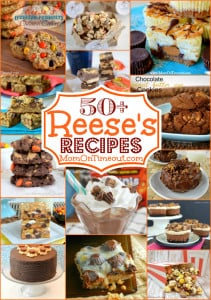 50-Reeses-Recipes-brownies-cookies-fudge-cake-donuts-popcorn-milkshake-cheesecake-orange-label