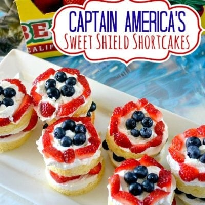 Captain America's Sweet Shield Cakes