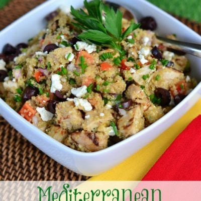 Easy Healthy Eating: Mediterranean Chicken Quinoa Salad