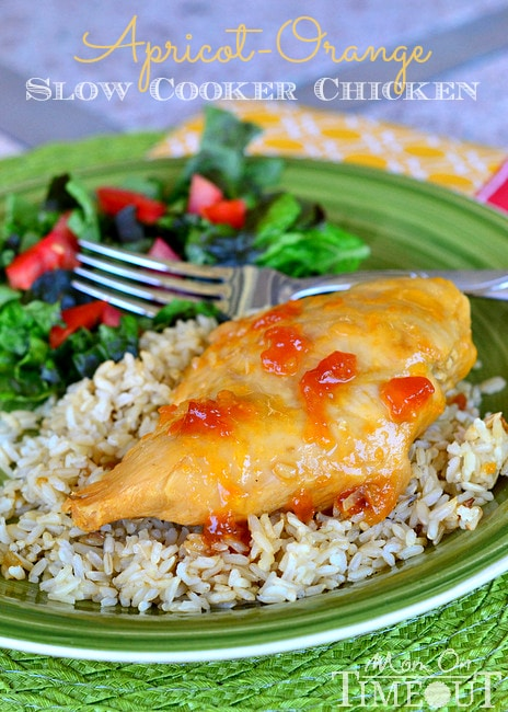 Apricot-Orange Slow Cooker Chicken | MomOnTimeout.com #slowcooker #easy #chicken #recipe