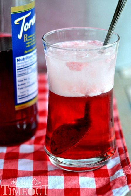 Cherry Italian Cream Sodas | MomOnTimeout.com Find out how easy it is to make your own Cherry Italian Cream Sodas at home!