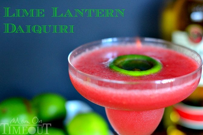 Lime Lantern Daiquiri - A tantalizing daiquiri made with fresh watermelon, lime juice and BACARDI® Mixers Strawberry Daiquiri mix from MomOnTimeout.com