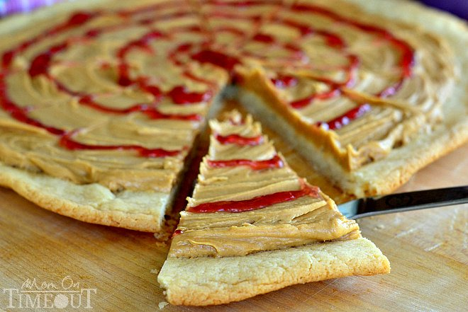 Peanut Butter & Jelly Sugar Cookie Pizza | A recipe inspired by Disney!