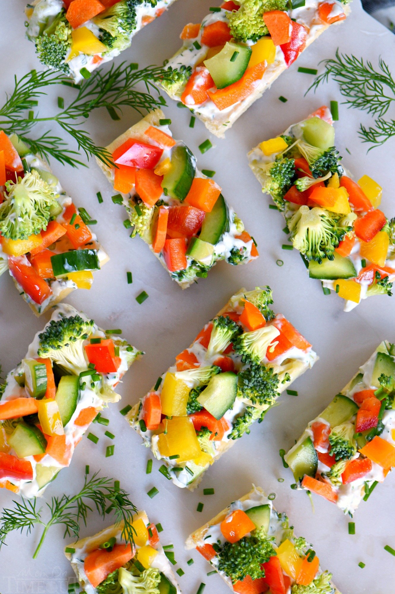 cream cheese vegetable appetizer